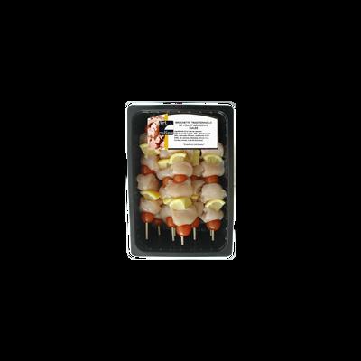 Brochette poulet azuréenne Qualité bouchère x9 Bq.1,6kg env.
