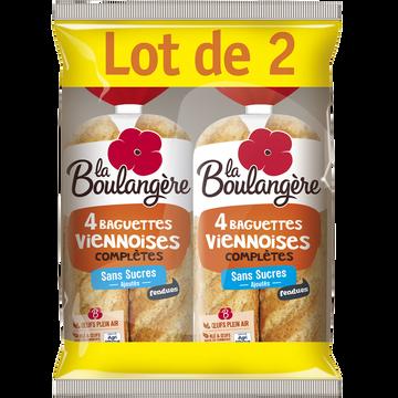 La Boulangère Baguettes Viennoises Complètes Fendues La Boulangère, 2x4 Soit 680g