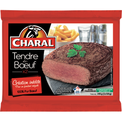 Tendre de boeuf, CHARAL, France, 2 pièces, 240g