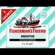 Fisherman's Friend Pastilles Menthe Sans Sucre Fisherman's Friend, 3 Sachets De 25g