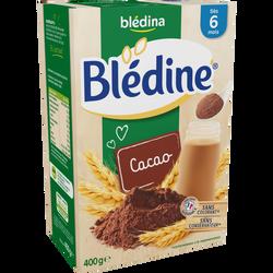 Blédine cacao BLEDINA, dès 6 mois, 400g