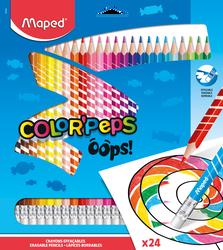 Crayon de couleur effaçable Colorpeps MAPED x24