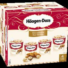 Mini pots de crème glacée Macadamia Nut Brittle HÄAGEN DAZS, 4x348g