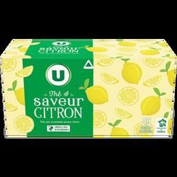 Thé noir saveur citron U boîte 25 sachets 50g