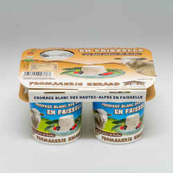 Faisselle au lait entier pasteurisé de brebis EBRARD, 4x115G