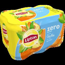 Ice Tea pêche Zéro sucres LIPTON, canettes 6x33cl
