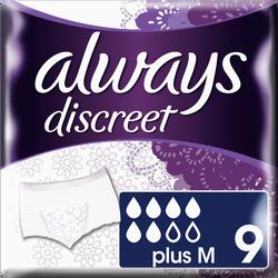 Sous-vêtements pour incontinence plus ALWAYS, taille M, x9