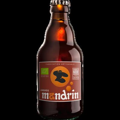 Bière ambrée bio MANDRIN 5.5°, bouteille 33cl