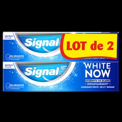 Dentifrice white now blancheur original SIGNAL 2x75ml