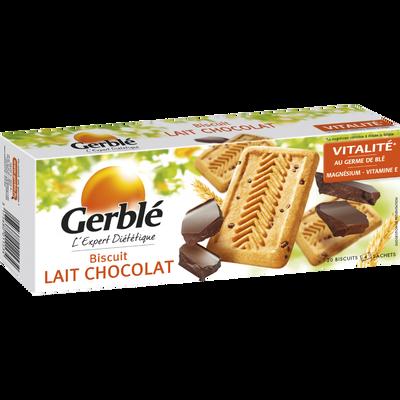 Biscuits au lait et pépites de chocolat GERBLE, paquet de 230g