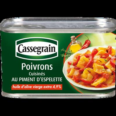 Poivrons cuisinés au piment d'Espelette CASSEGRAIN, 1/2 375g