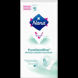 Protège lingerie quotidien pure sensitive normal 0% allergène NANA, x30