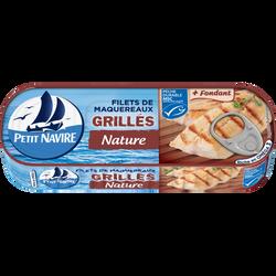 """Filets de maquereaux """"Le grillé"""" PETIT NAVIRE, 110g"""