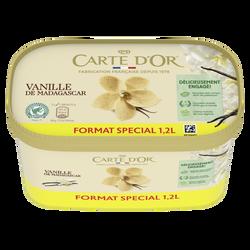 Crème glacée vanille de Madagascar CARTE D'OR, 629g