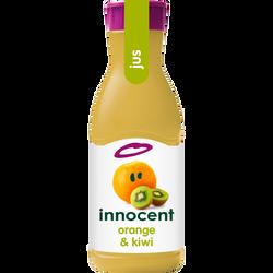 Pur jus réfrigéré d'oranges et kiwi INNOCENT, bouteille 900ml
