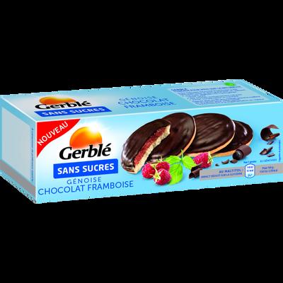 Génoise chocolat framboise sans sucres GERBLE, 140g