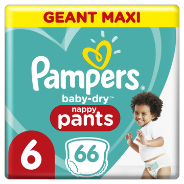 Pampers Pampers Baby Dry Pants Couches-culottes Geant Maxi T6 X66