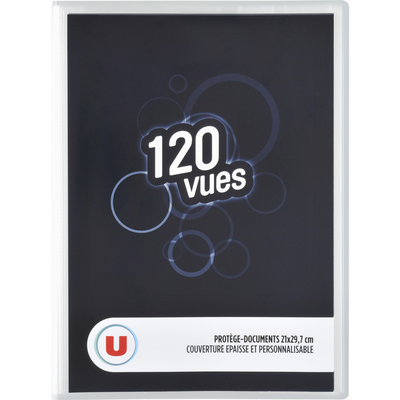 Protège document 120 vues U, format A4, coloris assortis