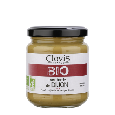 Moutarde de Dijon bio CLOVIS, 200g
