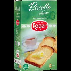 Biscotte aixoise très pauvre en sel LES BISCOTTES ROGER, paquet de 280g