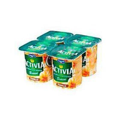 Yaourt brassé saveur vanille, ACTIVIA, 4x125g