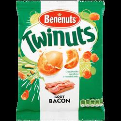 Cacahuètes enrobées goût bacon Twinuts BENENUTS, 150g