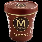 Magnum Crème Glacée Vanille Avec Du Chocolat Au Lait Et D'amandes Magnum, Potde 297g