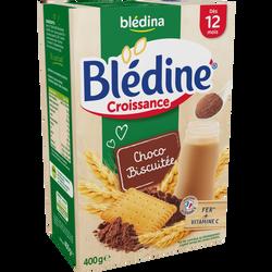 Lait croissance Blédine céréales chocolat biscuit BLEDINA, dès 12mois,paquet de 500g