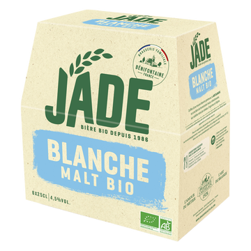 Jade Bière Jad, Blanche Bio, 6x25cl
