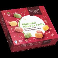 Jacquot Pâtes De Fruits Bâtonnets Non Rangés , Boîte De 1kg