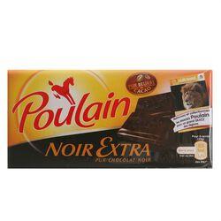 Chocolat noir extra POULAIN, tablette de 100g