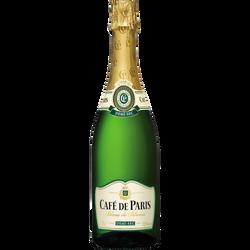 Vin mousseux blanc de blancs demi sec CAFÉ DE PARIS, 75cl
