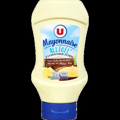Mayonnaise allégée en matières grasses à la moutarde de Dijon U, pot de 455g
