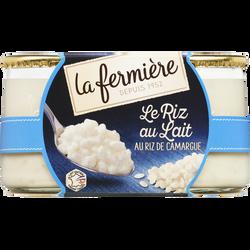 Riz au lait nature LA FERMIERE, 2x160g