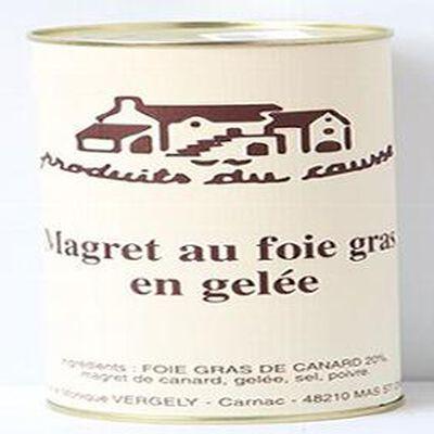 Magret au foie gras en gelée, Produits du causse, 400g