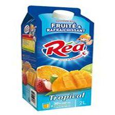 Boisson fruité et rafraîchissante parfum tropical REA, 2L