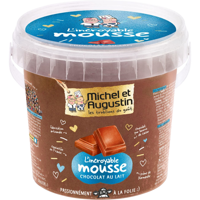 L'incroyable mousse au chocolat au lait MICHEL & AUGUSTIN, pot de 500ml