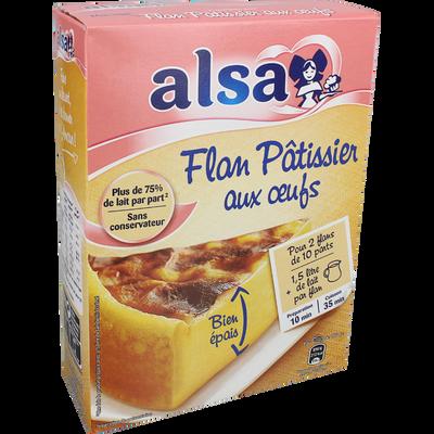 Préparation pour flan pâtissier aux oeufs ALSA, 2 doses, 720g