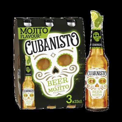 Bière mojito CUBANISTO, 5,9°, 3 bouteilles de 33cl