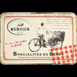 Biscuits assortis boite metal MERCIER, 250g