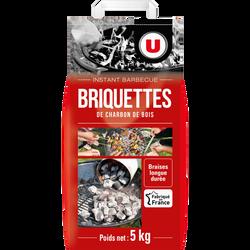 Briquette charbon de bois U, 5KG