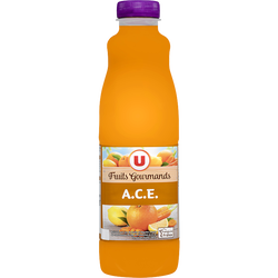"Jus ACE ""fruits gourmands"" U, bouteille de 1l"