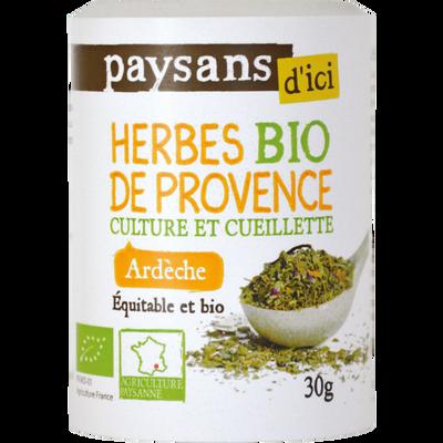 Herbes de provence Ardèche BIO PAYSANS D'ICI, boîte de 30g
