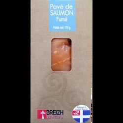 Pave de saumon fumé 1 pièce breizh saveurs, 110g