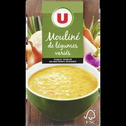 Mouliné légumes variés aromatisé U, 1l