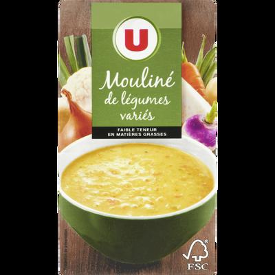 Mouliné légumes variés aromatisé U, brique de 1 litre