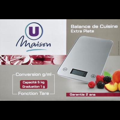 Balance de cuisine électronique U MAISON, argent,  portée 5kg