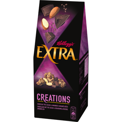 Céréales extra créations chocolat amandes Kellogg's, paquet de 320g