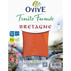 Truite fumée de Bretagne OVIVE, 120g