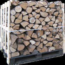 Buches WOODSTOCK,  1,8 stère, bois feuillus durs : chêne, charme, hêtre, certifié bois de chauffage